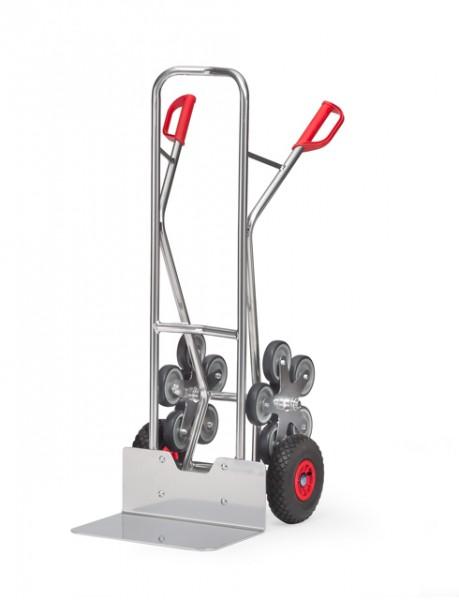 fetra® AK1328 Alu-Treppenkarre - 200 kg Tragkraft, Luftbereifung und 2 fünfarmige Rad-Sterne