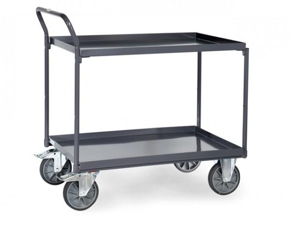 fetra® 9922 ESD-Tischwagen mit Wanne - Schiebegriff hochstehend