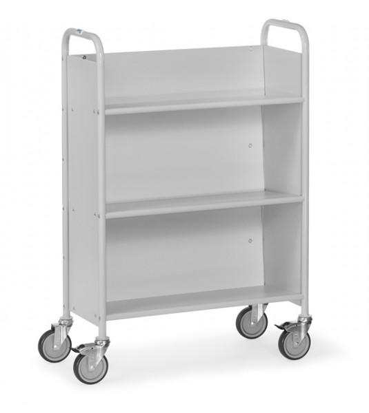 fetra® 4891 Bürowagen mit Rollen, geschlossener Rückwand und geneigten Böden