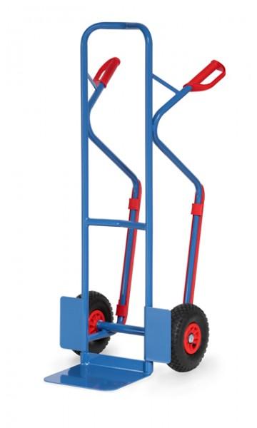 fetra® B1330L Sackkarre - 300kg - Luftbereifung - mit Gleitkufen