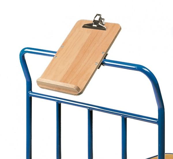 fetra® 1290 Schreibtafel - hoch - für Format DIN A4 hoch, Holz mit Papierklammer und Stiftablage