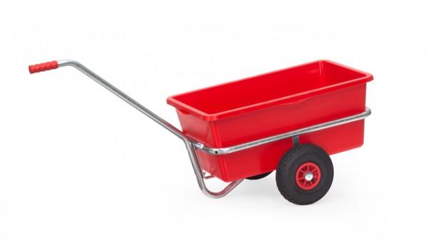 fetra® 6101L Handwagen mit Kunststoffmulde - verzinkt