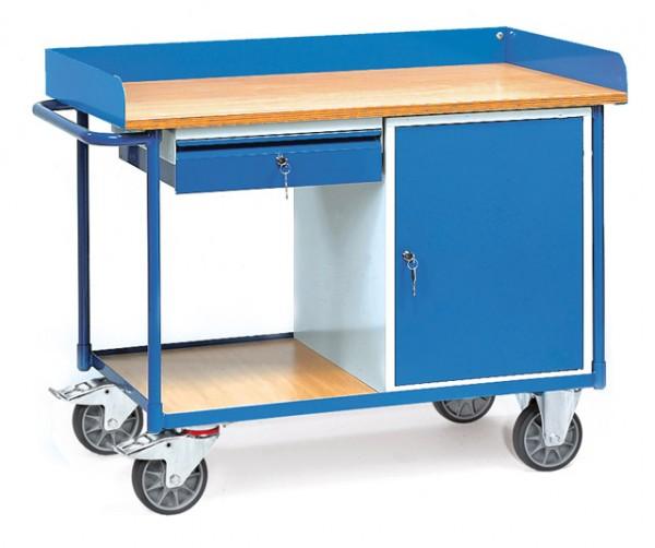 fetra® 2436 Werkstattwagen mit Arbeitsplatte