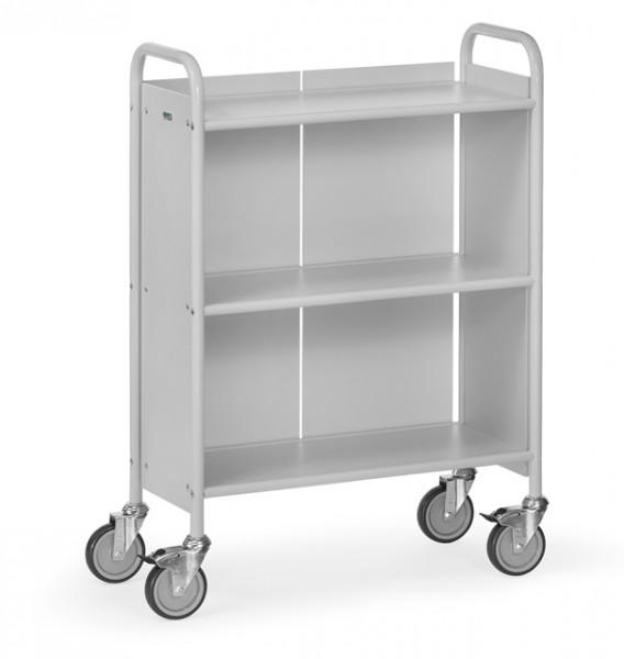 fetra® 4871 Bürowagen mit Rollen und geschlossener Rückwand