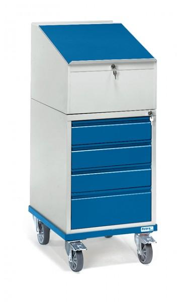 fetra® 2449 Rollpult mit Schrank und Schubladen