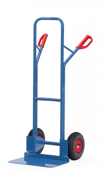 fetra® B1326L Sackkarre - Luftbereifung - 300kg - breite Schaufel