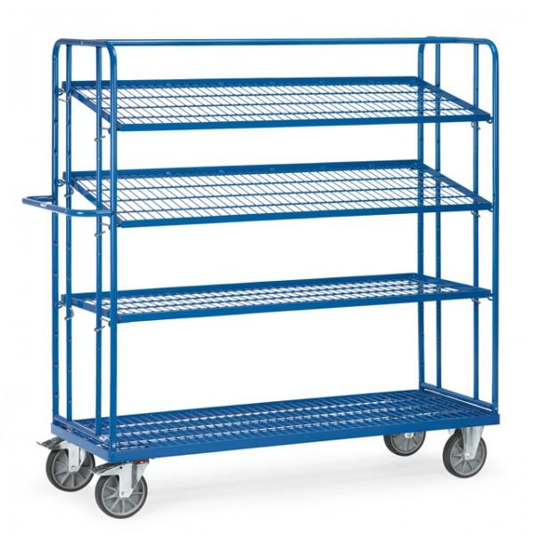 fetra® 4496 Etagenwagen mit verstellbaren Böden - Gitter